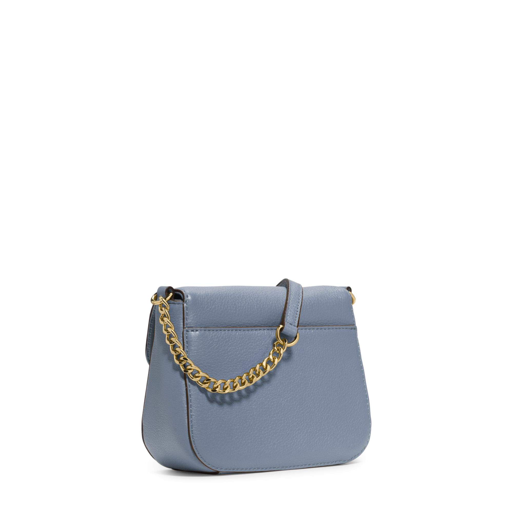 michael kors fulton leather small crossbody in blue lyst. Black Bedroom Furniture Sets. Home Design Ideas