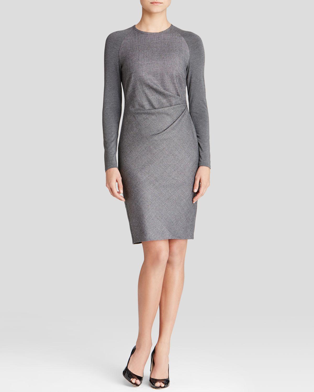 Lyst Max Mara Dress Ugo Side Pleat In Gray