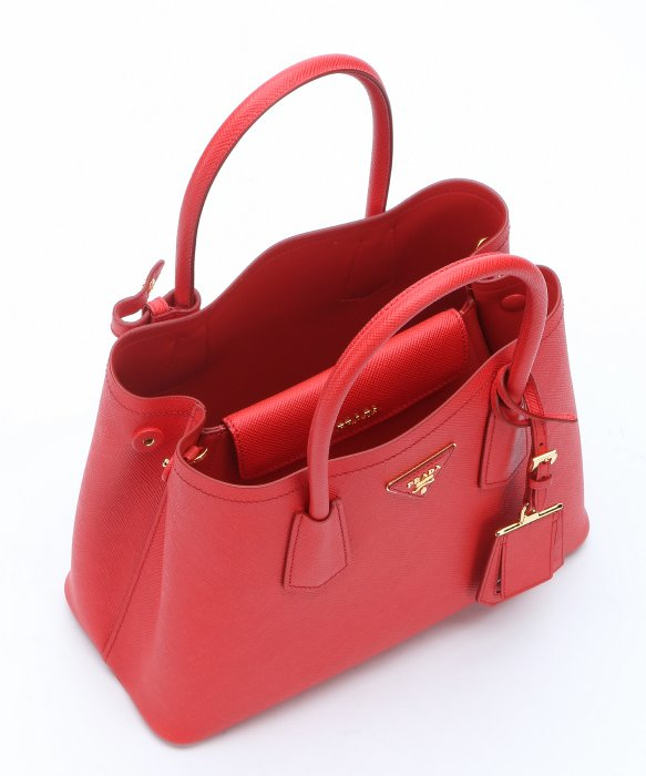 australia authentic red prada large saffiano wallet 9d7da d4803  denmark  lyst prada red saffiano leather convertible top handle bag in natural 8c0a2  48d56 03d097d7b5