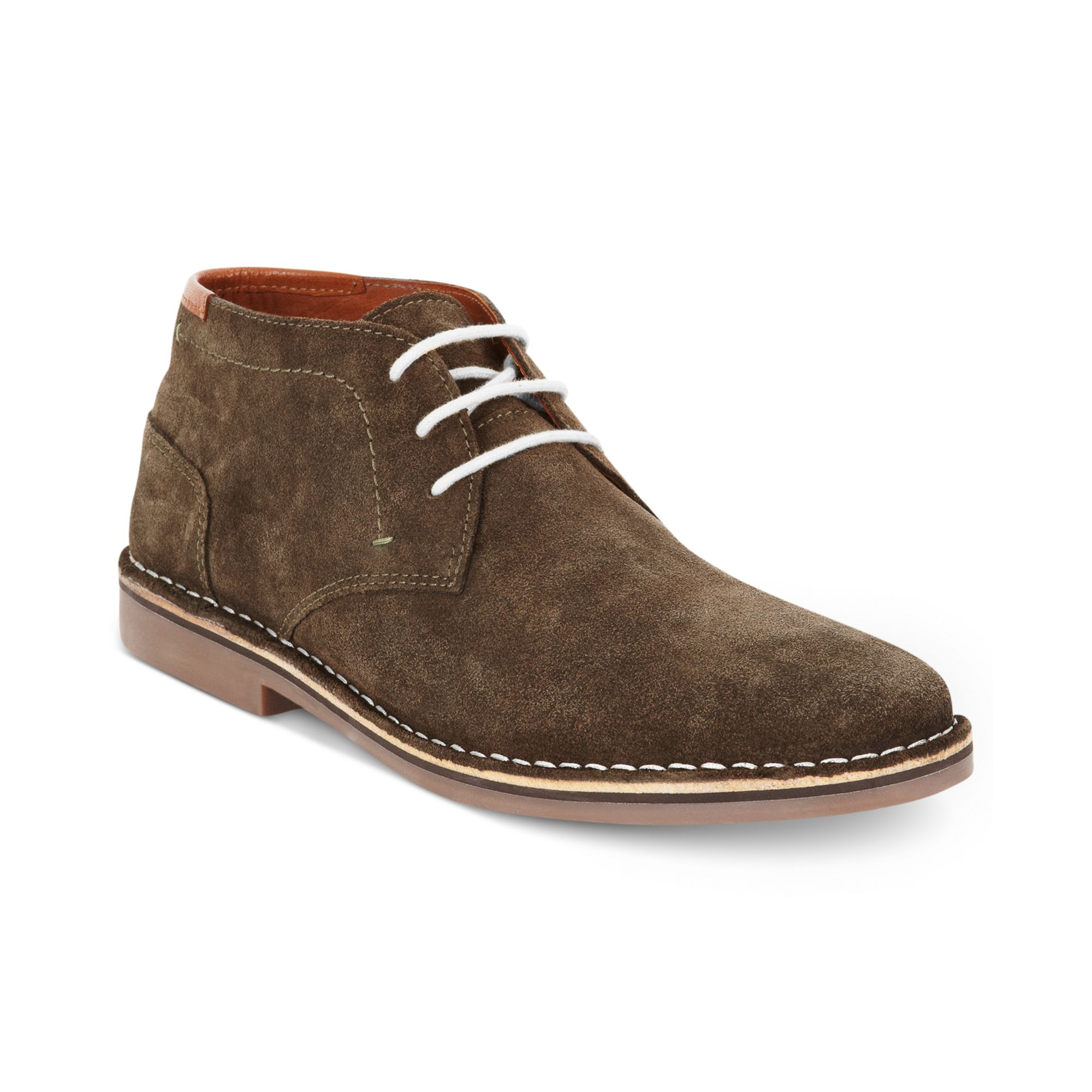Kenneth Cole Reaction Desert Sun Suede Chukkas In Gray For