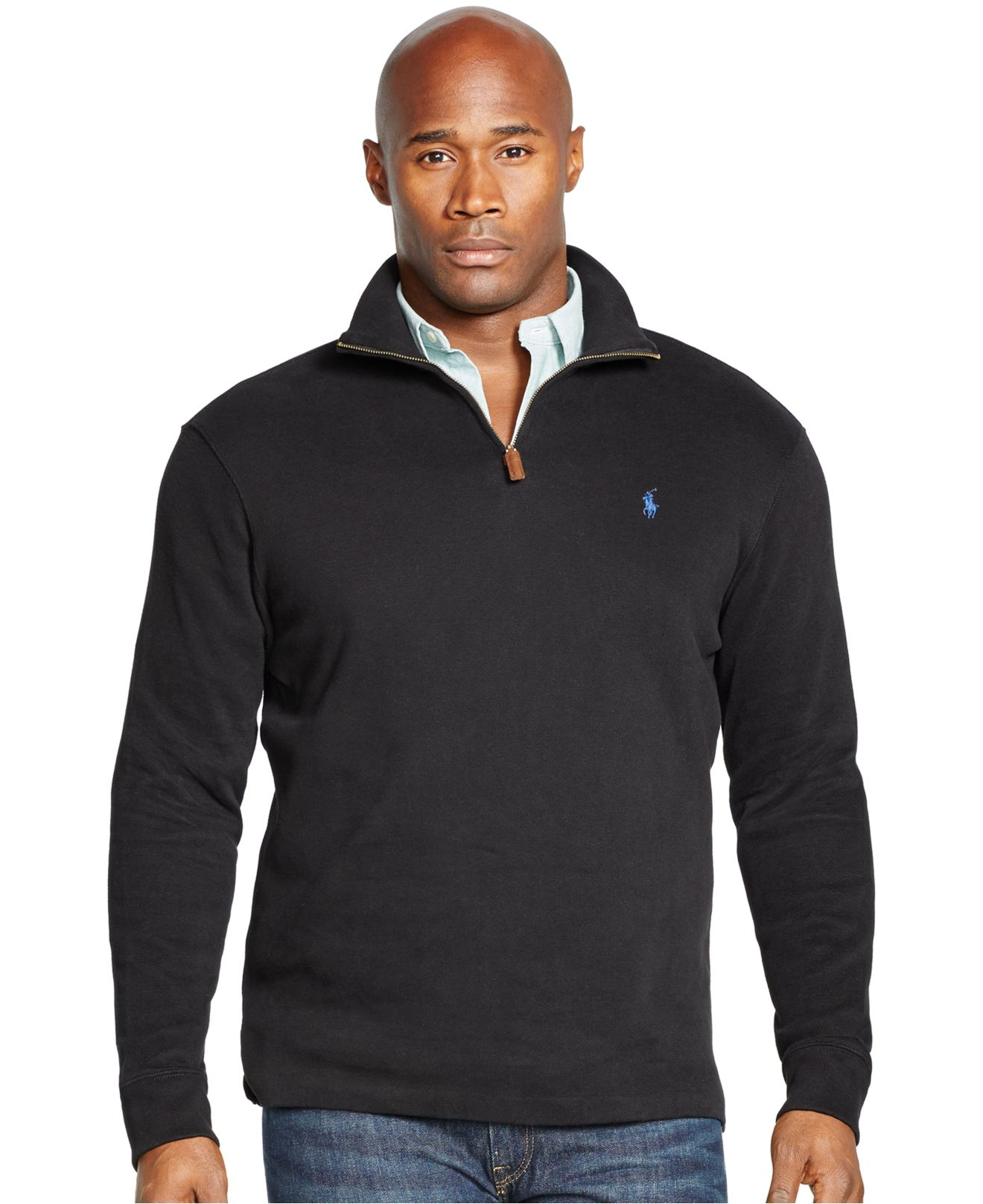 polo ralph lauren big and tall french rib half zip. Black Bedroom Furniture Sets. Home Design Ideas