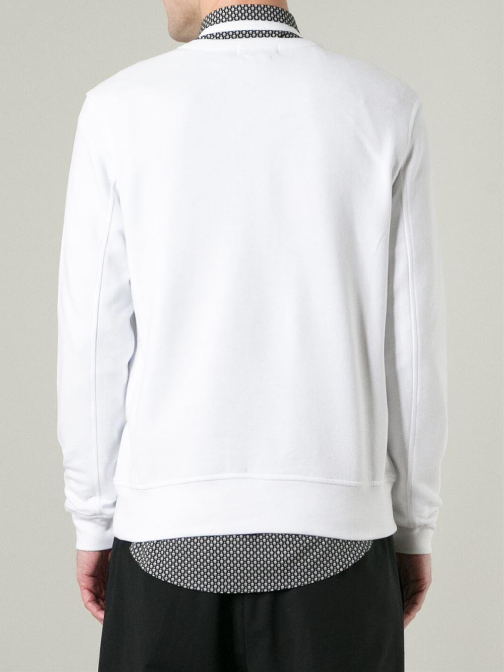 alexander mcqueen feather sweatshirt in white for men lyst. Black Bedroom Furniture Sets. Home Design Ideas