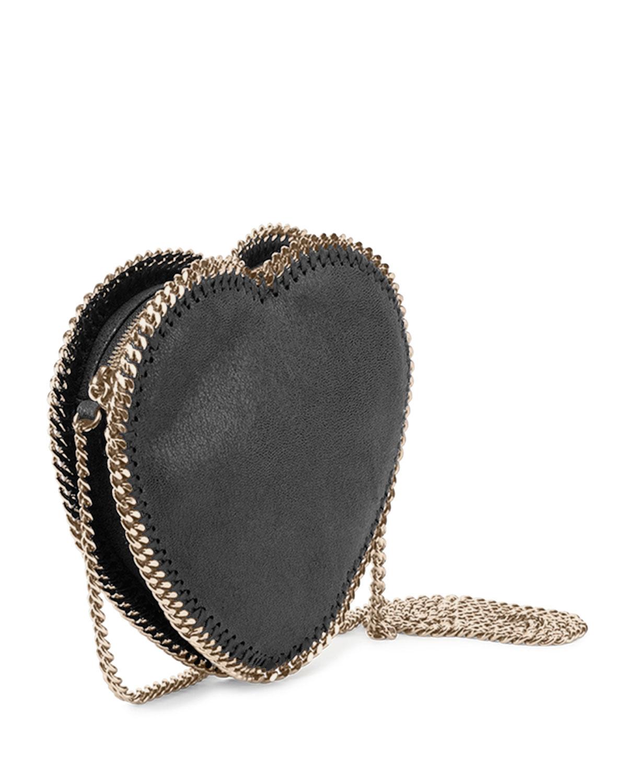 0b81553a6 Stella McCartney Falabella Heart Faux-Leather Cross-Body Bag in Blue ...
