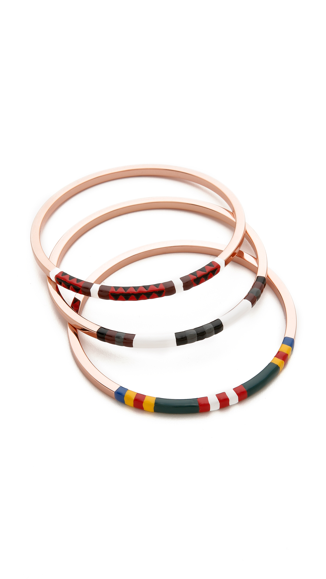 Lyst Tory Burch Multicolor Skinny Bangle Set Multi