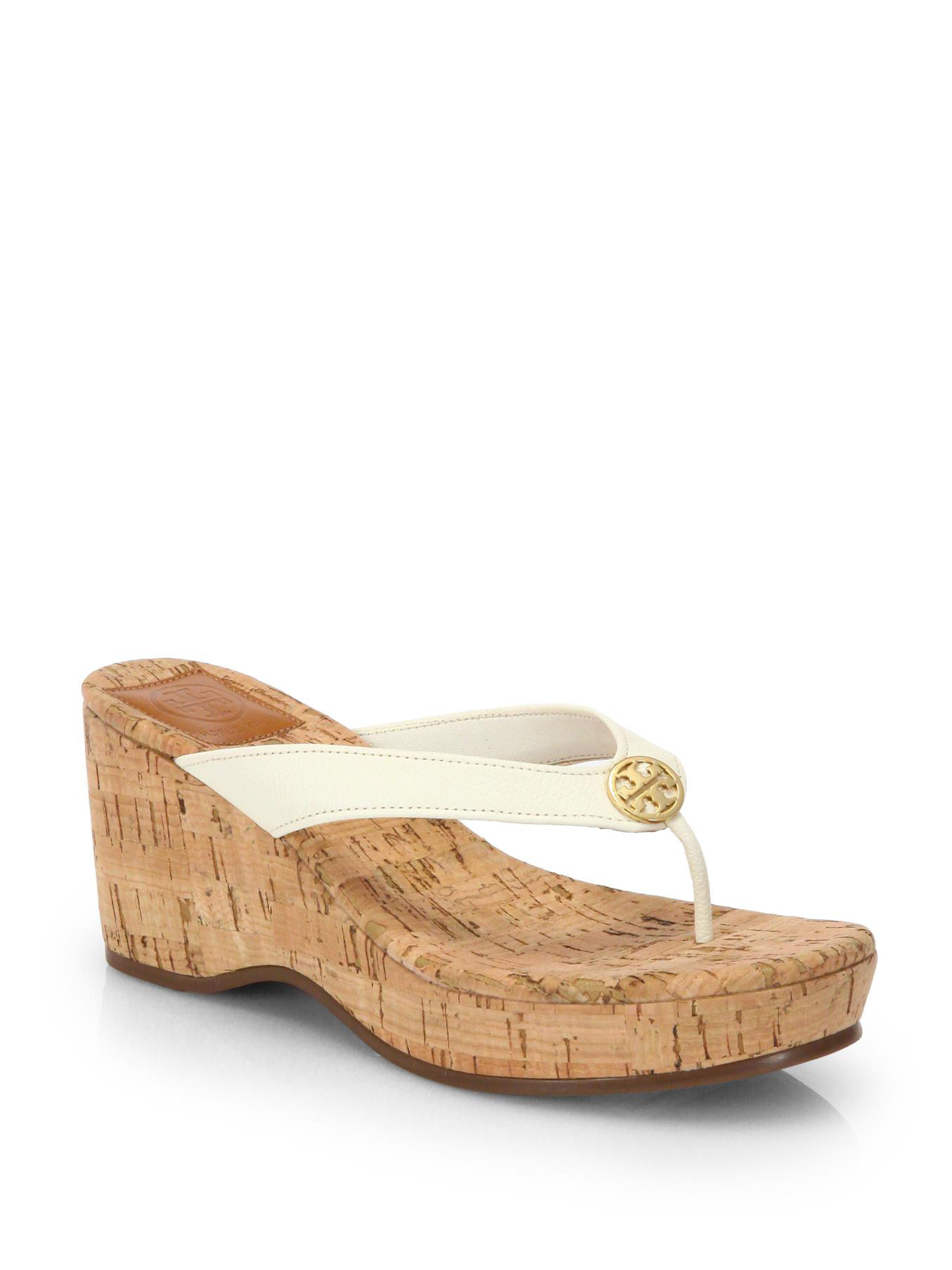 Tory Burch Suzy Leather Wedges discount factory outlet qSo90Q6I