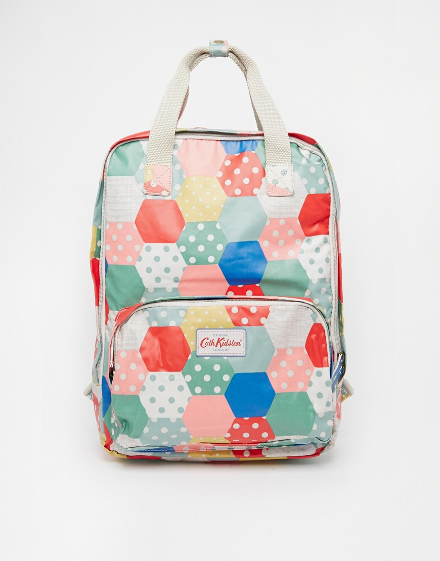 lyst cath kidston backpack matt coated in natural. Black Bedroom Furniture Sets. Home Design Ideas