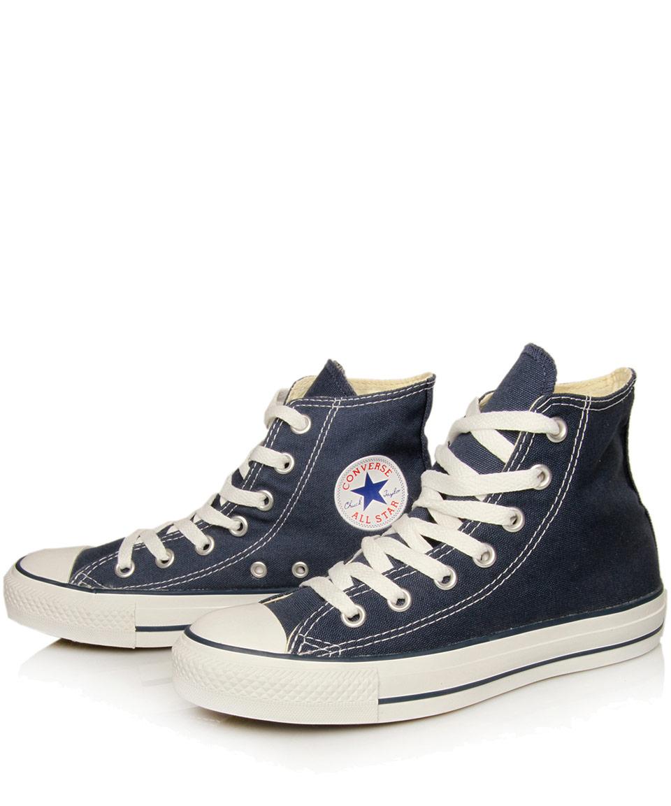 navy blue converse high tops