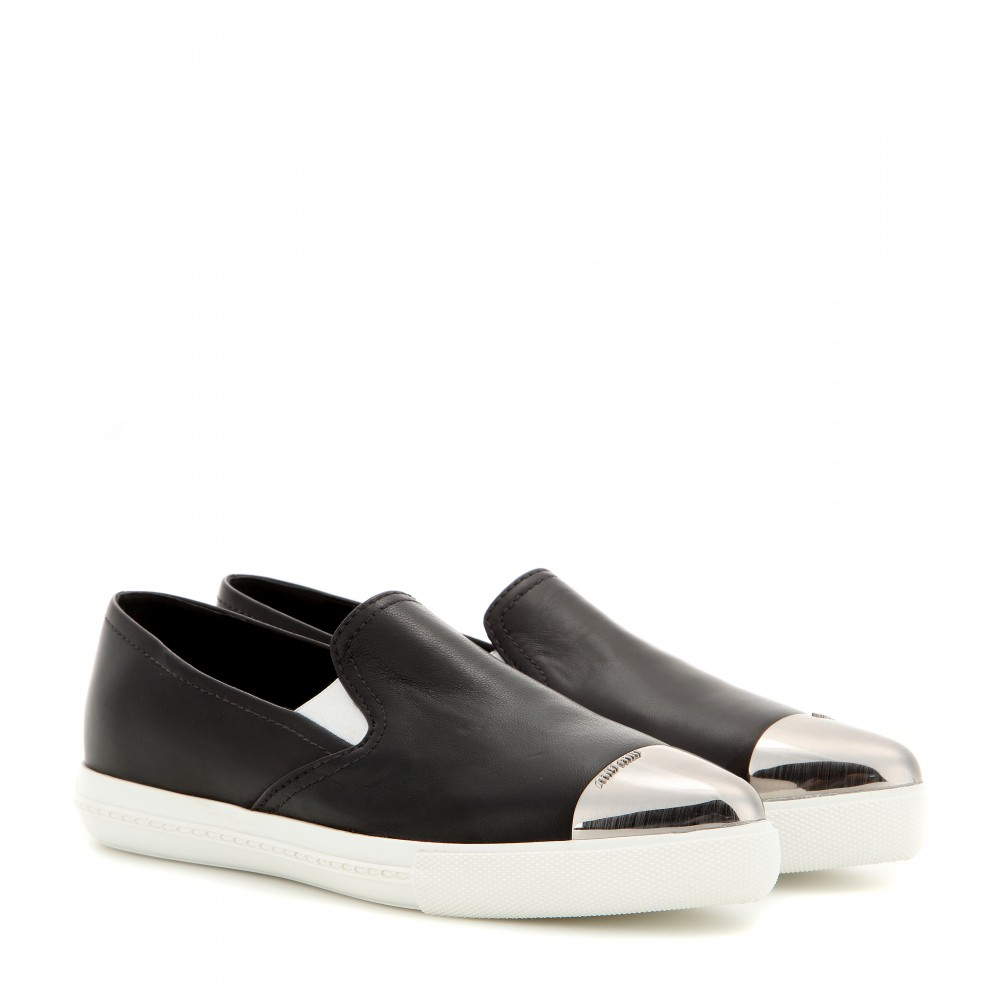 Leather Slip On Sneakers found in: Brett Perf Slip On, Lena Slip On, Melanie Slip On, Brea Huarache Slip On, Brea Slip On, Ludlow Slip On, These slip-on sneakers encapsulate the sleek minimalist design that the brand is known for.