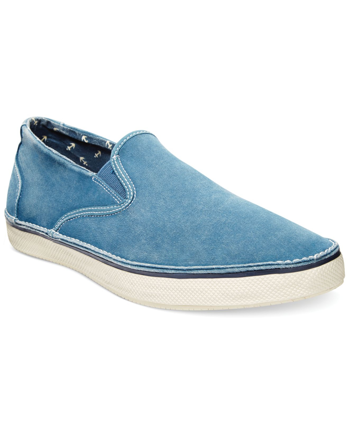 sperry top sider slip on shoes in blue for lyst