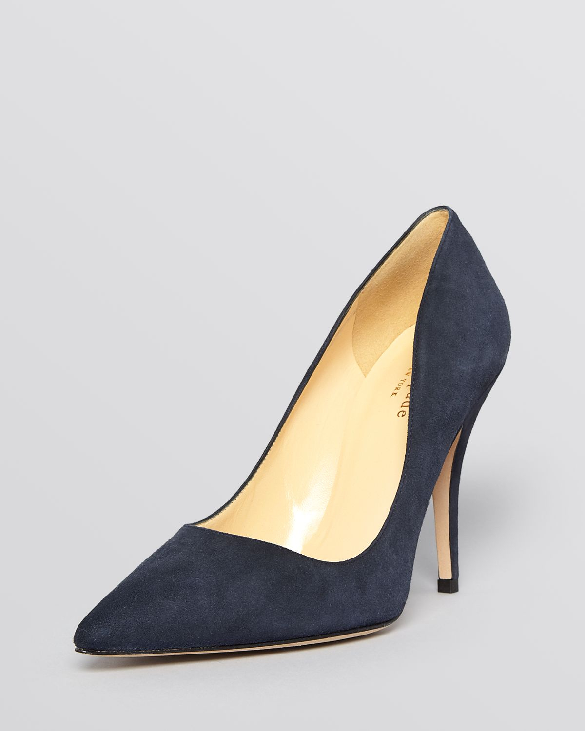 83715ae83628 Lyst kate spade pointed toe pumps licorice high heel in blue jpg 1200x1500  Black pumps kate