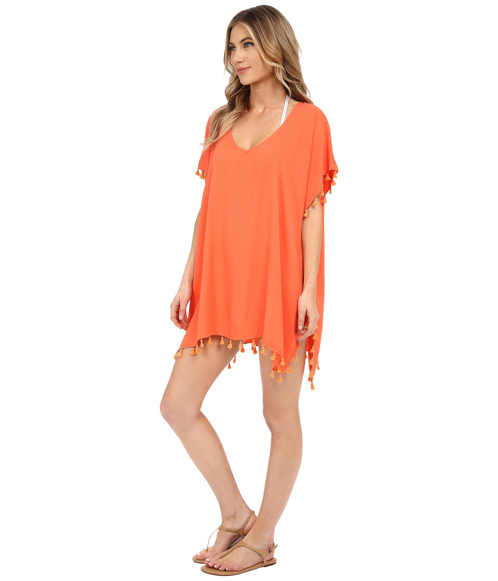 901a8318cb33e Lyst - Seafolly Bling Beach Kaftan Cover-up in Orange