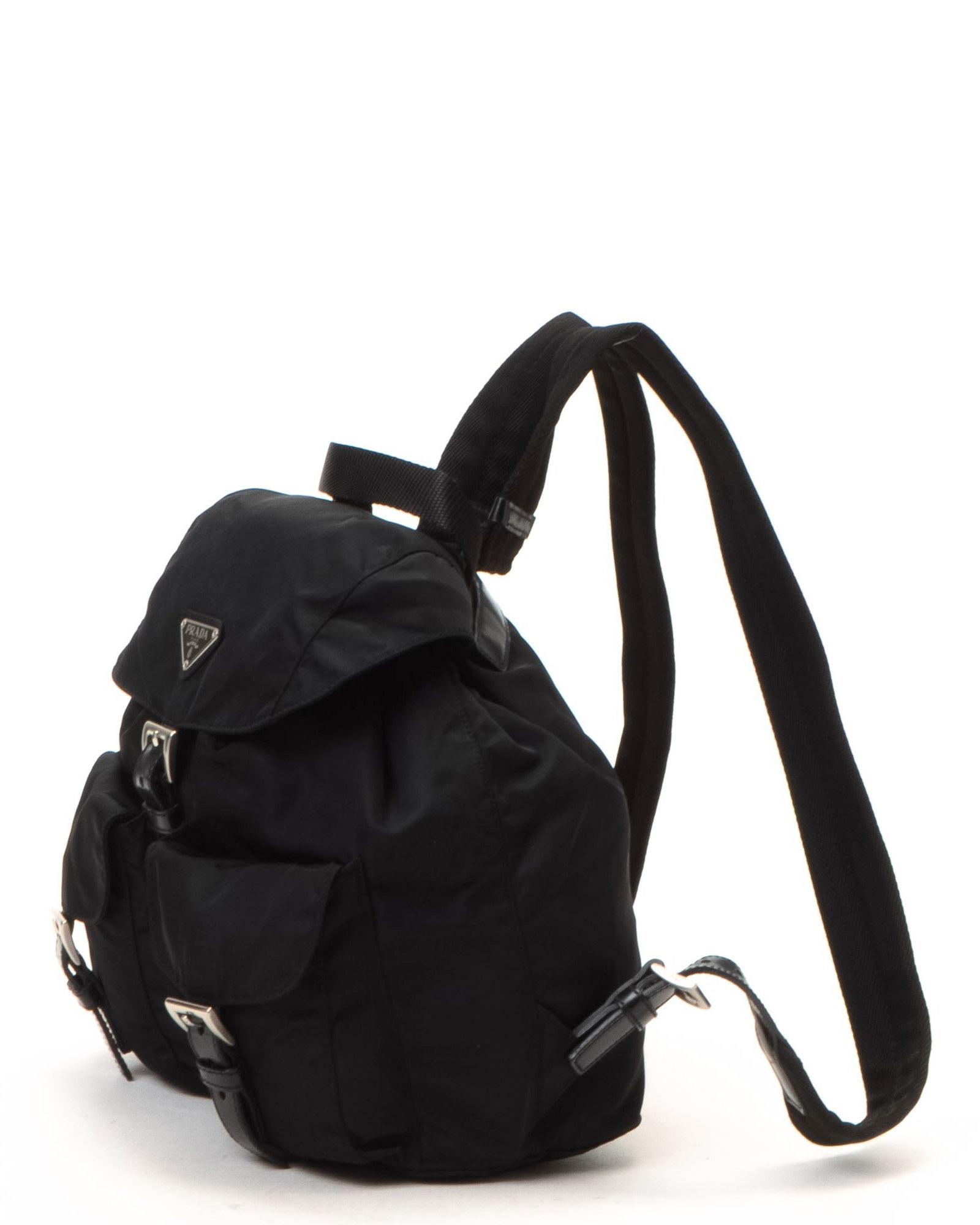 715facceb153 ... czech prada nappy bag prada tessuto backpack vintage in black lyst  613b2 9ab5f