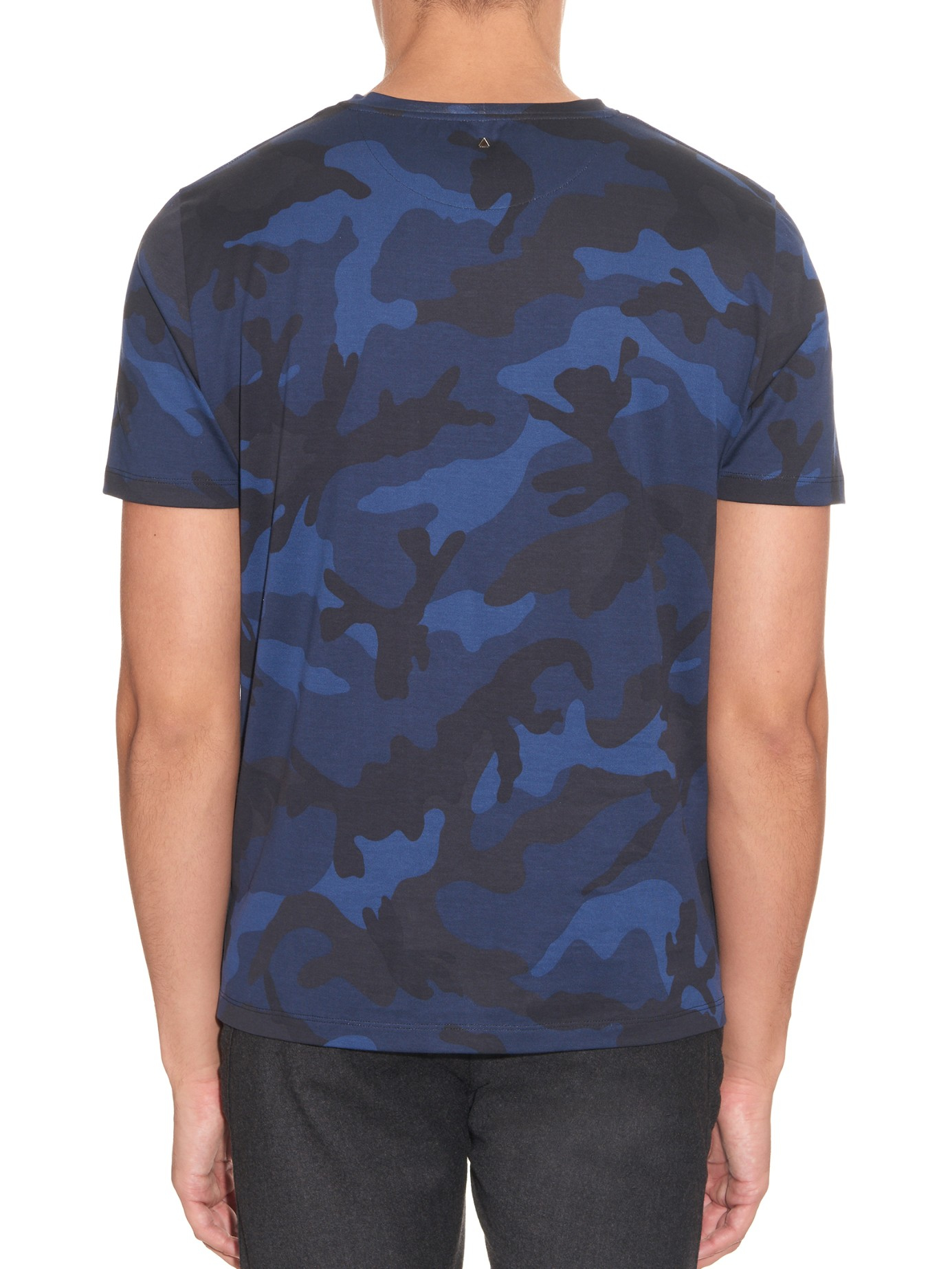 Lyst valentino camouflage print cotton jersey t shirt in for Camouflage t shirt printing