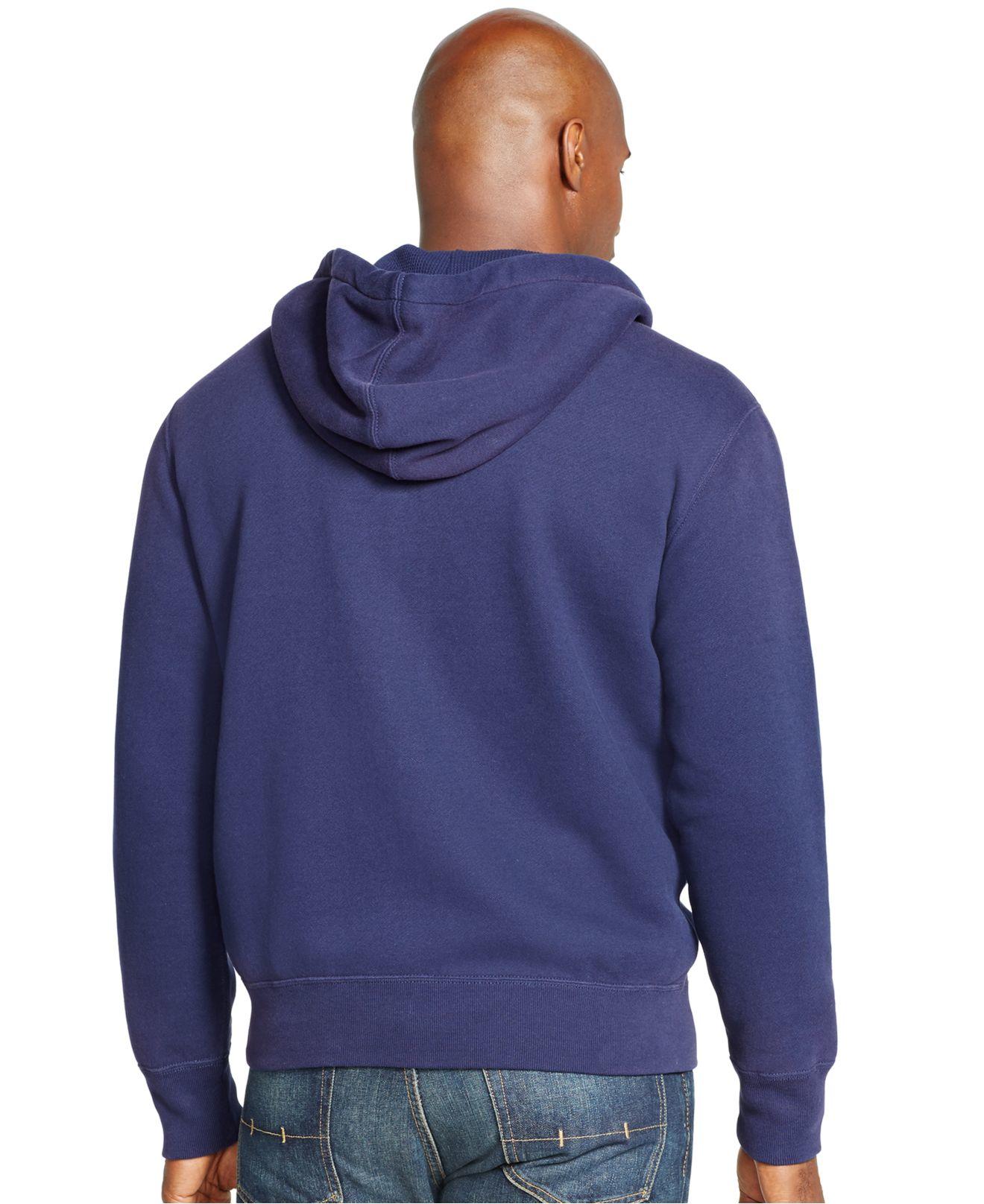 polo ralph lauren big and tall fleece full zip hoodie in. Black Bedroom Furniture Sets. Home Design Ideas