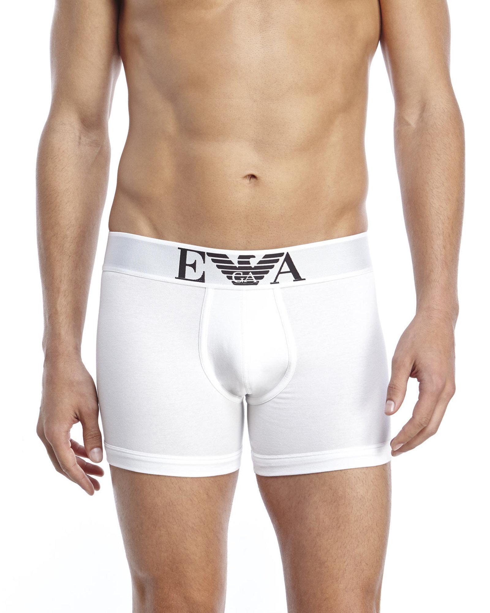 Lyst - Emporio Armani Stretch Cotton Boxer Briefs in White for Men 9490f88cf3d