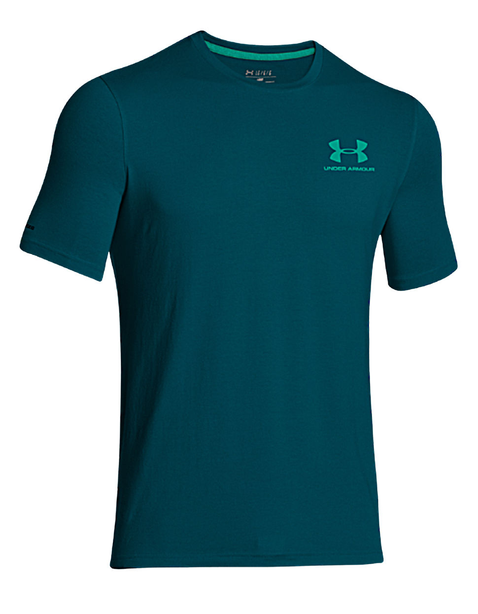 Under armour charged cotton sportstyle t shirt in blue for for Under armour charged shirt