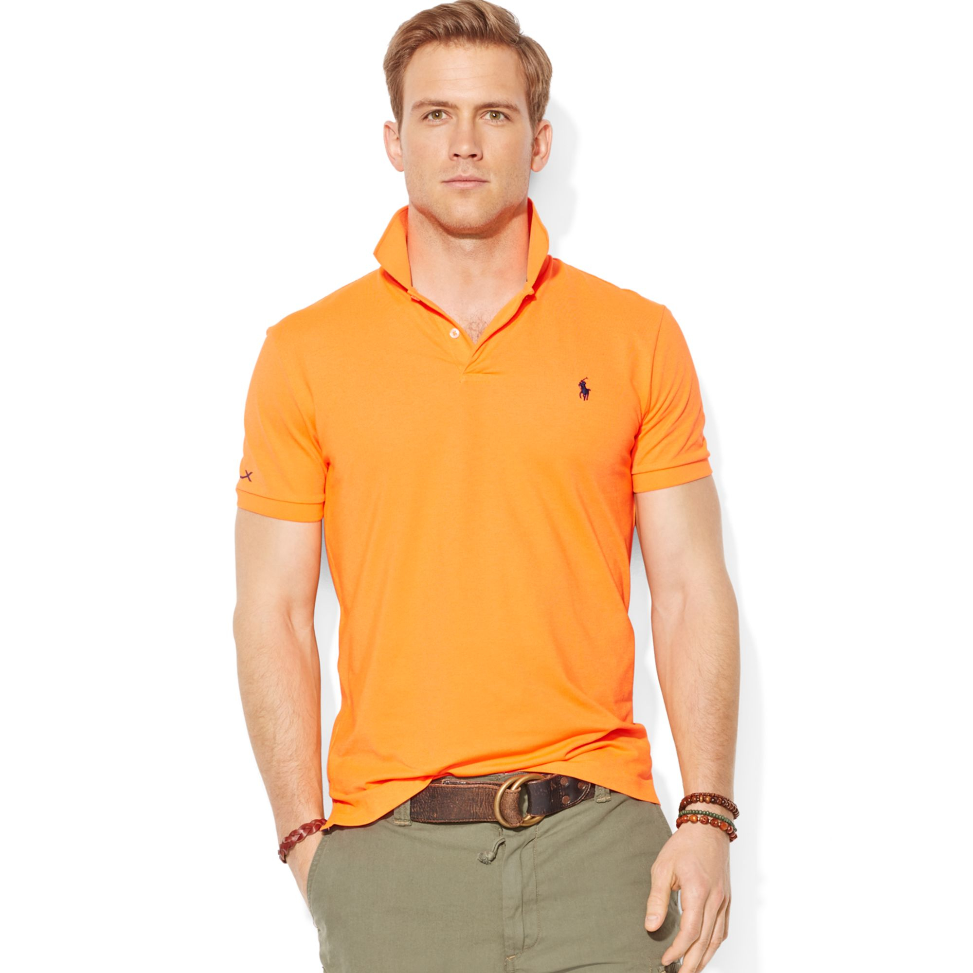 ralph lauren polo performance polo shirt in orange for men shocking orange lyst. Black Bedroom Furniture Sets. Home Design Ideas