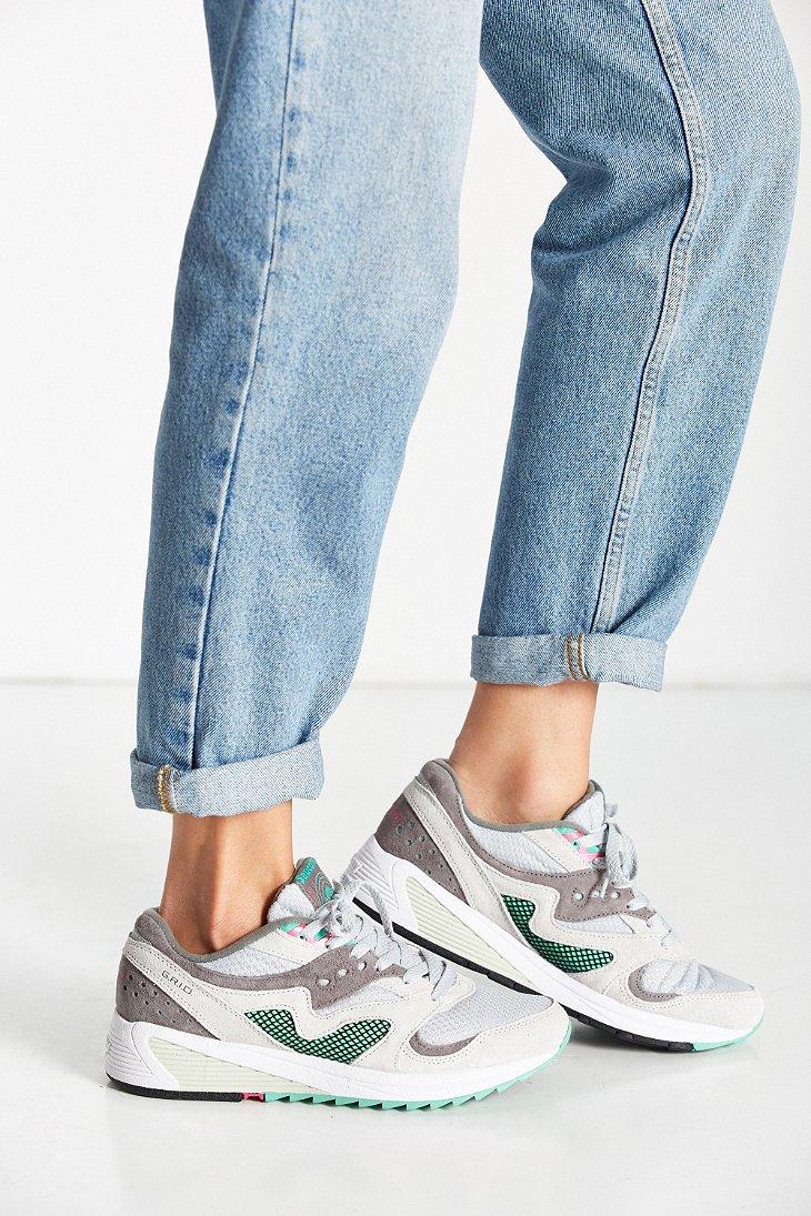 683cbd5d3585 Lyst - Saucony Grid 8000 Cl Premium-uni Sneaker in Gray