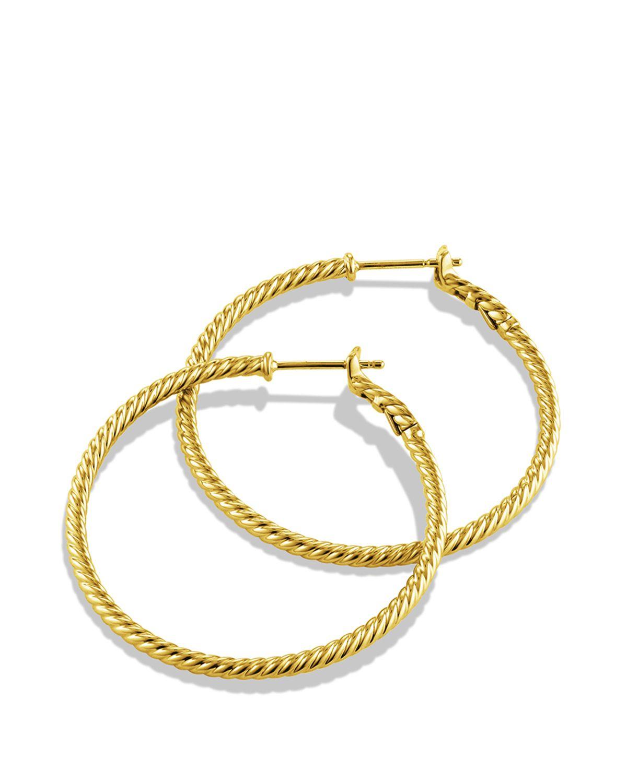 david yurman cable classics hoop earrings in gold in