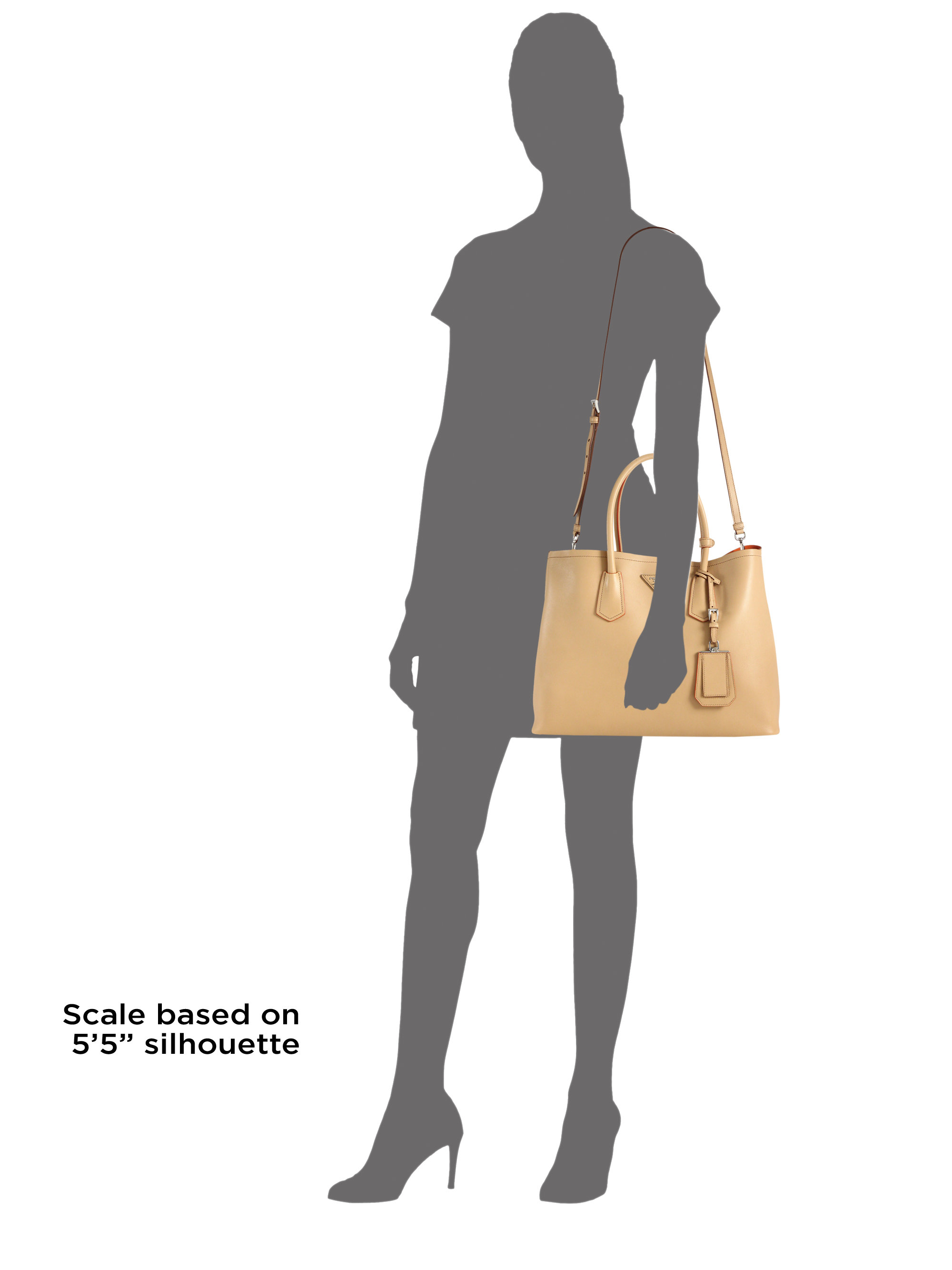 shoulder bag prada - Prada City Calf Medium Double Bag in Beige (NOCCIOLA-NUDE) | Lyst