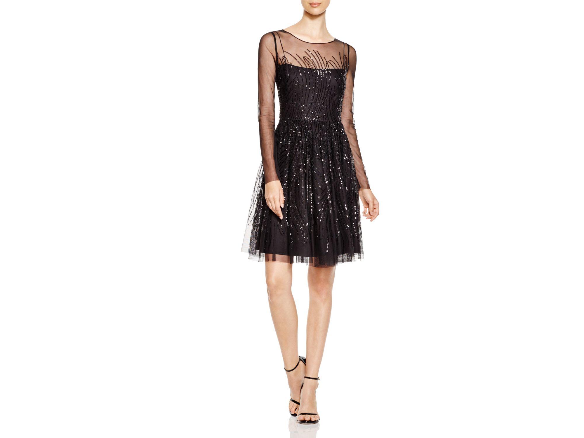 sheer midi dress - Black Vera Wang 8wlYnw