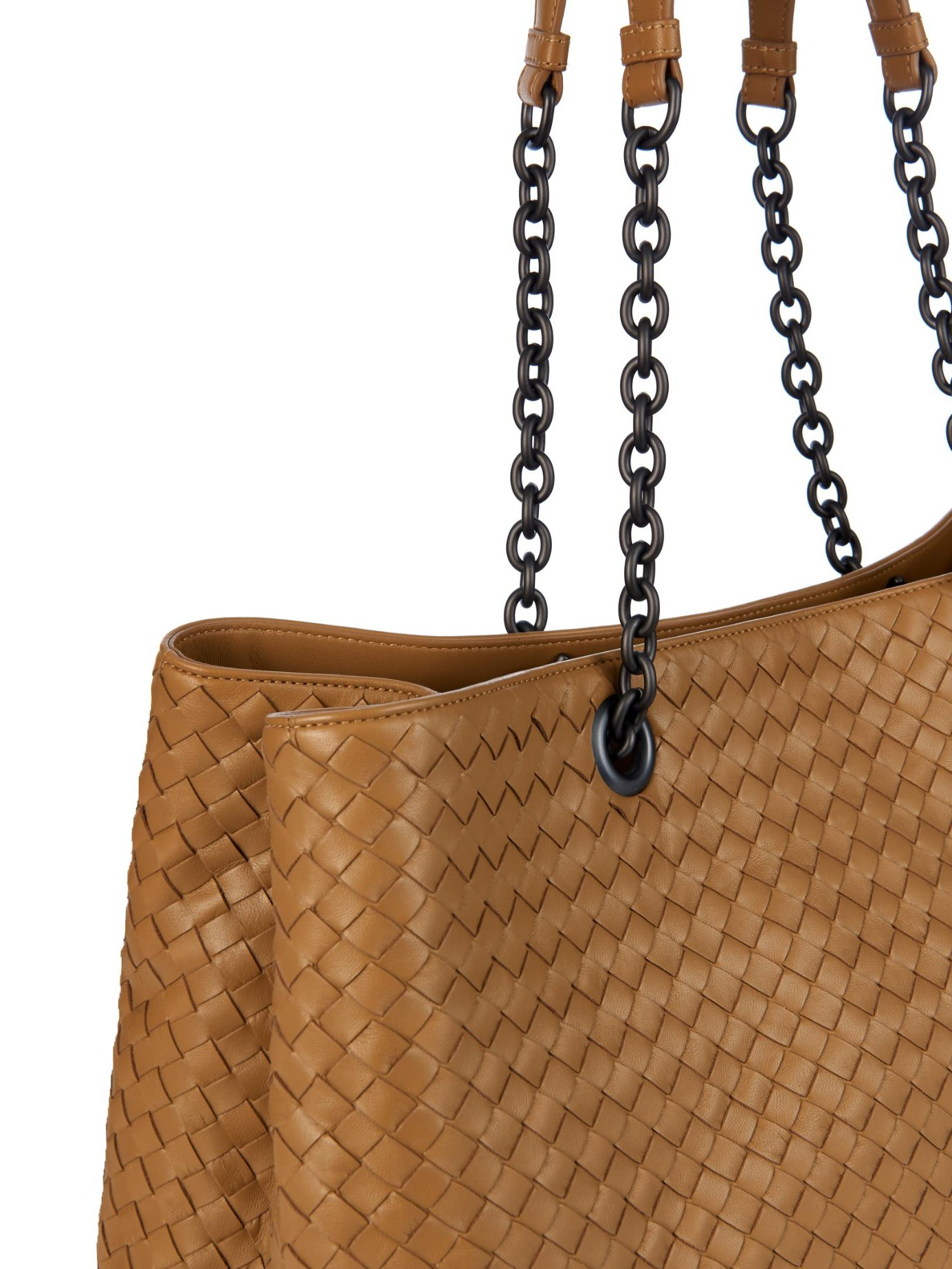 91afffc45efe Lyst - Bottega Veneta Intrecciato Double-handle Leather Tote in Natural