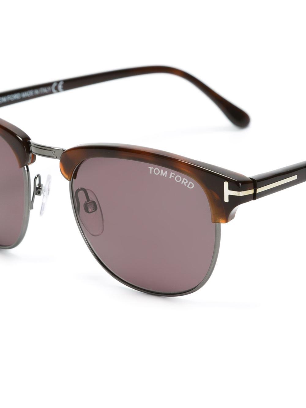 lyst tom ford 39 henry vintage 39 sunglasses in black. Black Bedroom Furniture Sets. Home Design Ideas
