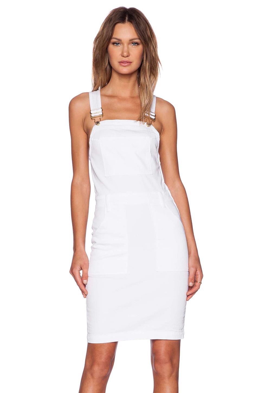 frame le high pencil skirt dress in white lyst