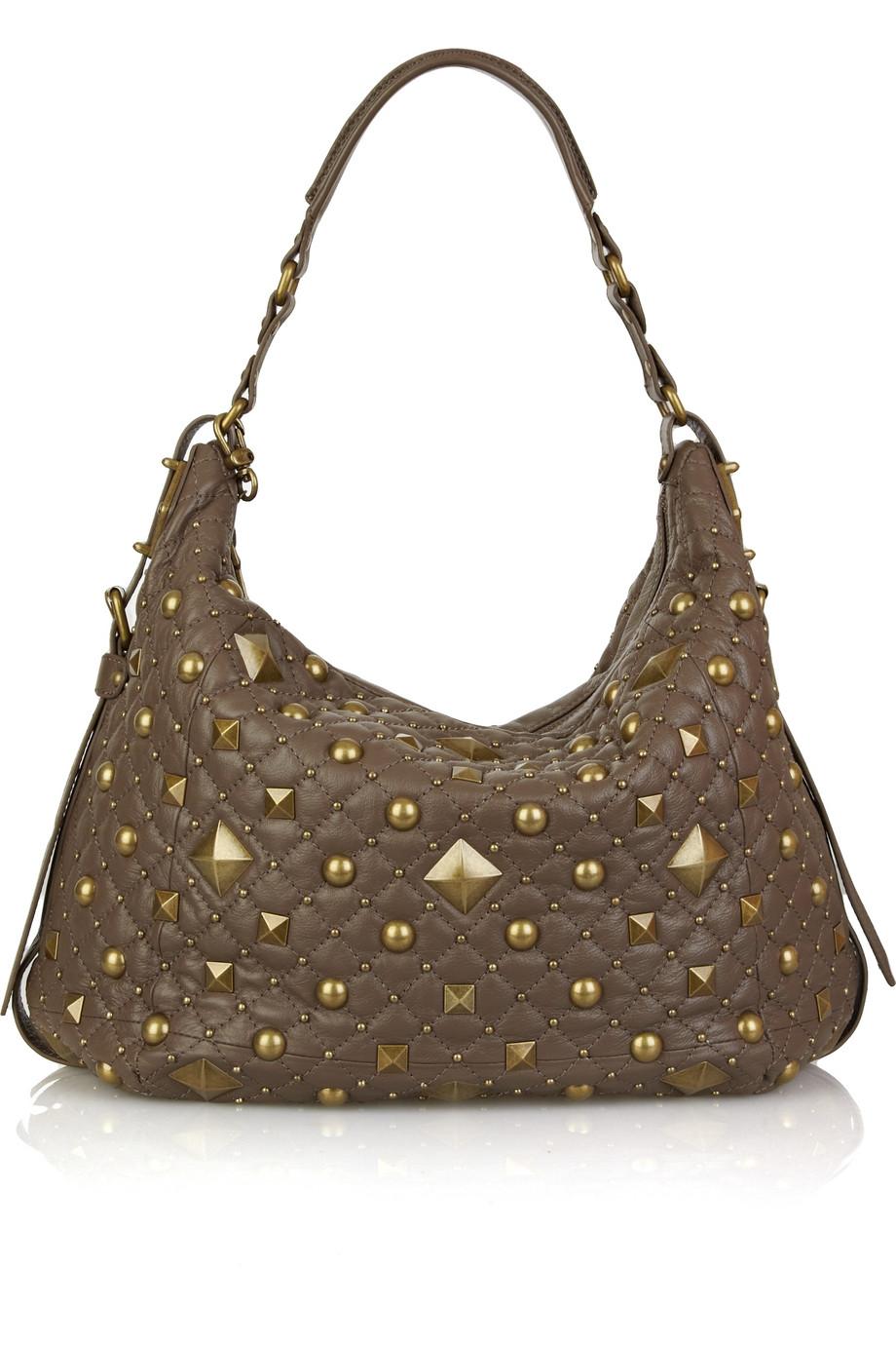 Brown Studded Shoulder Bag 58