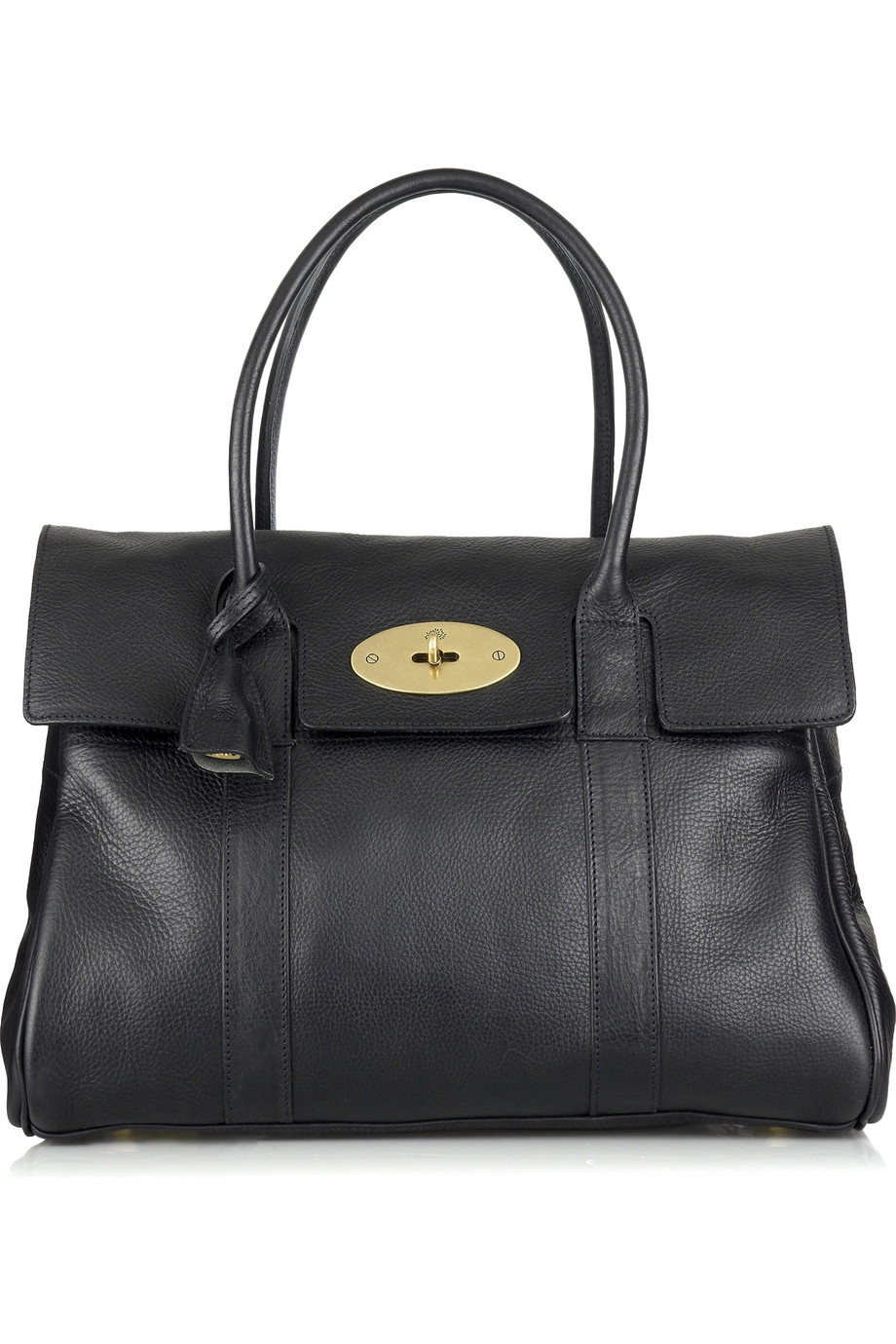 Mulberry bayswater leather bag in black lyst for The bayswater