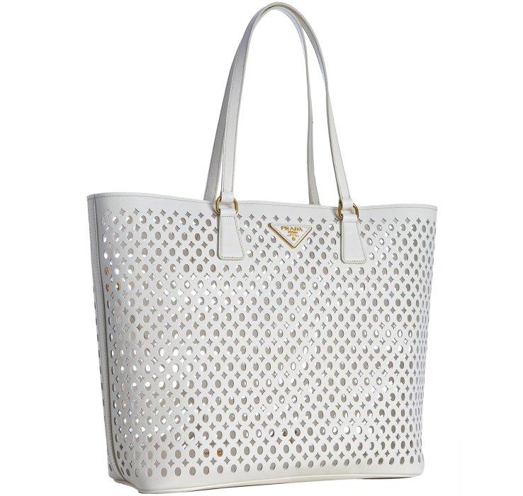 buy prada bag - Prada White Cut-out Shoulder Bag in White | Lyst