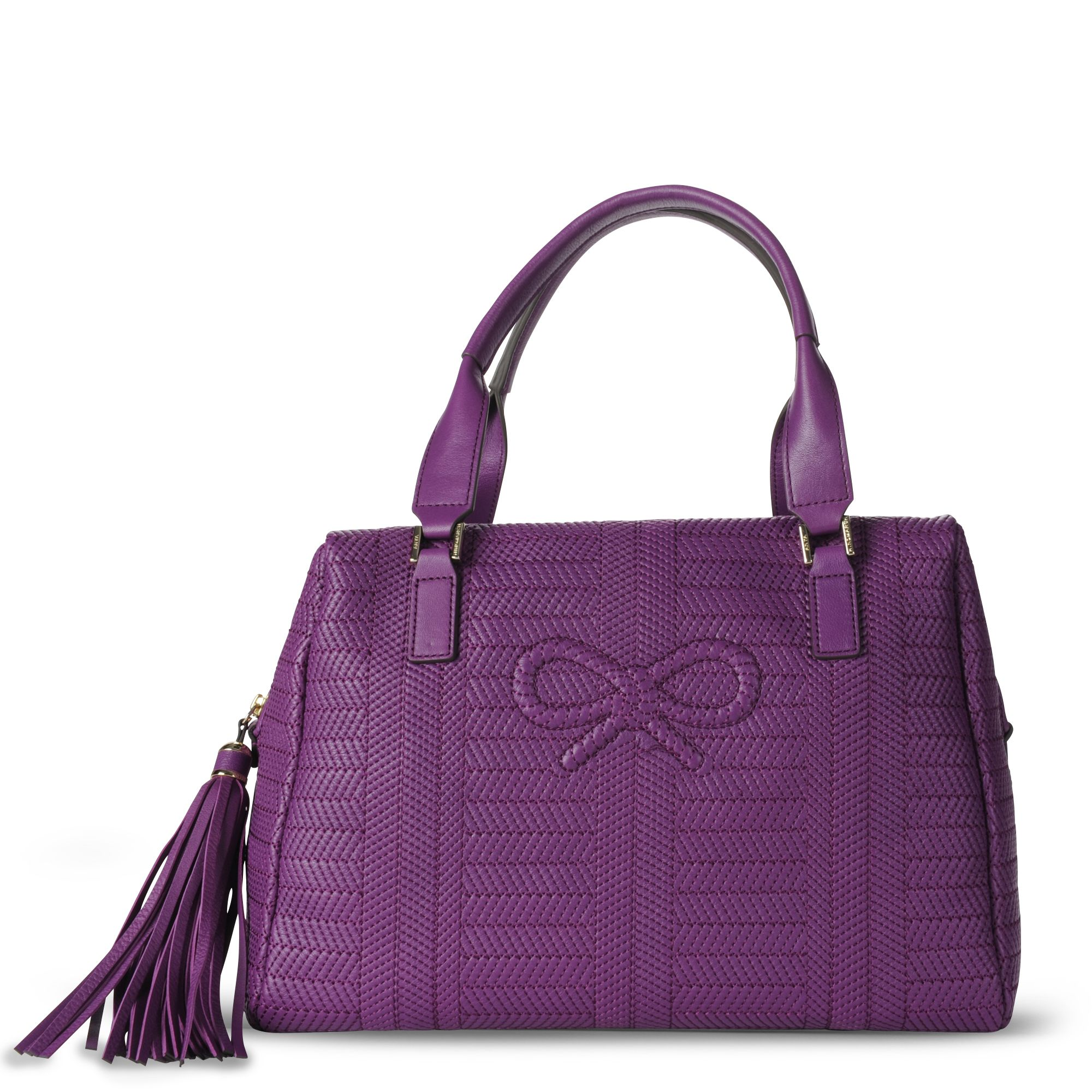 Anya Hindmarch Fergus Violet Woven Bag in Purple (violet)