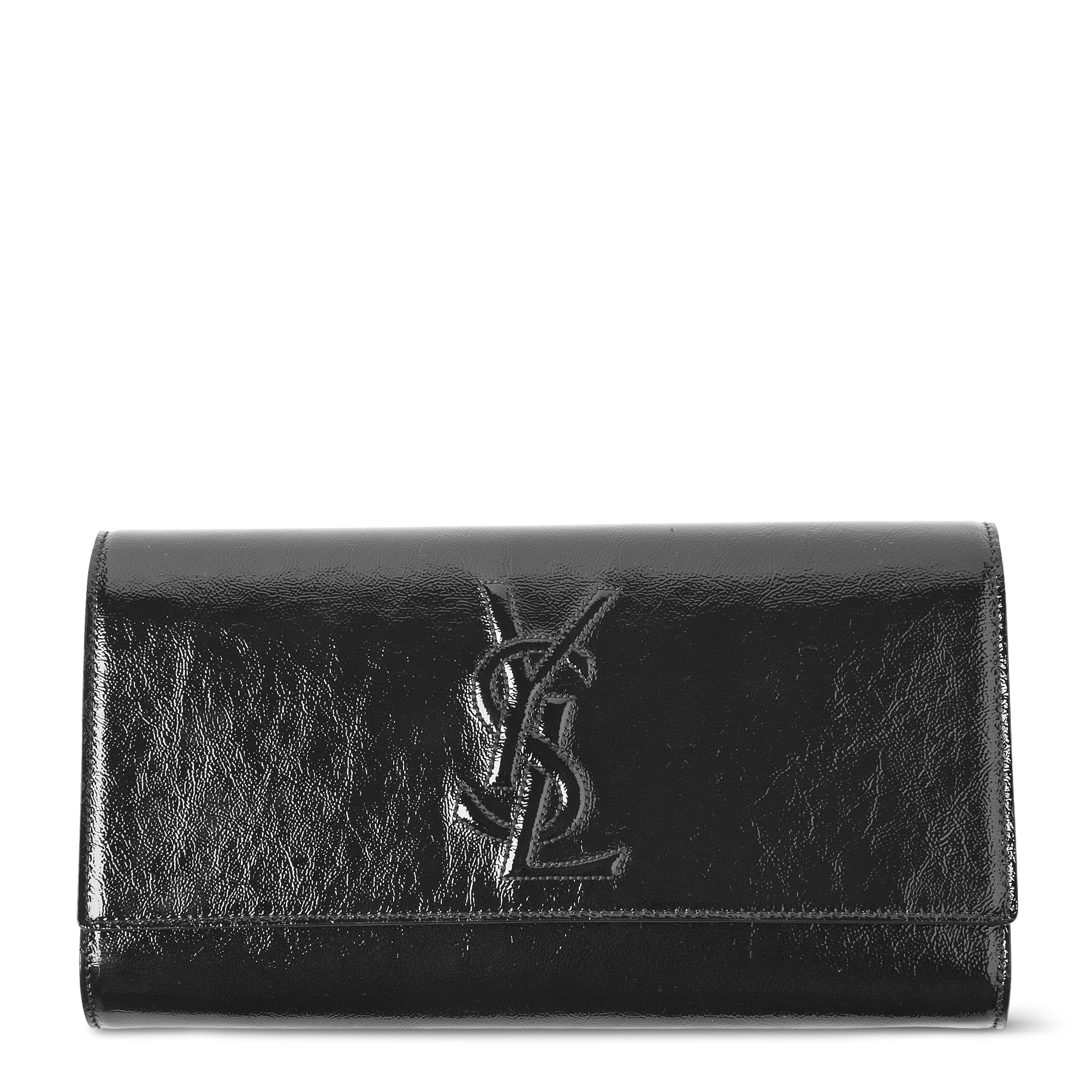 Saint laurent Belle De Jour Clutch Bag in Black | Lyst