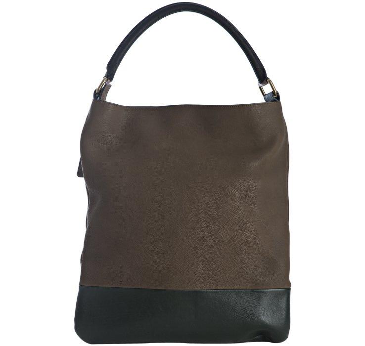 celine brown patent leather handbag