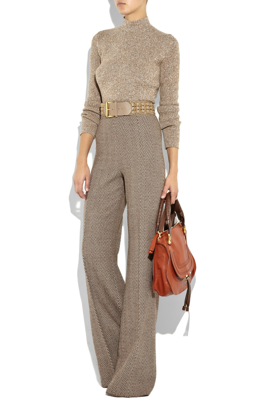 Chlo¨¦ Marcie Leather Bag in Brown (whisky)   Lyst