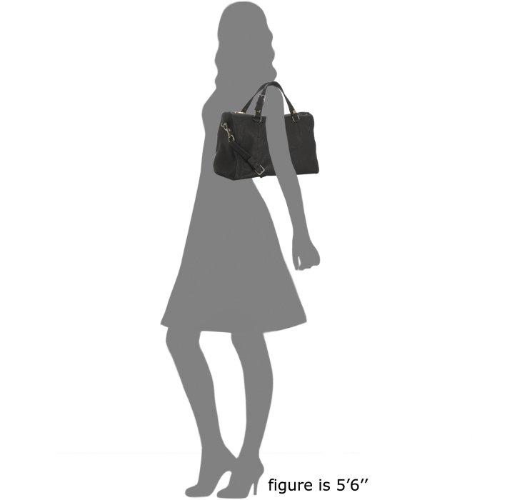 C¨¦line Black Goatskin Boston Bag with Strap in Black | Lyst