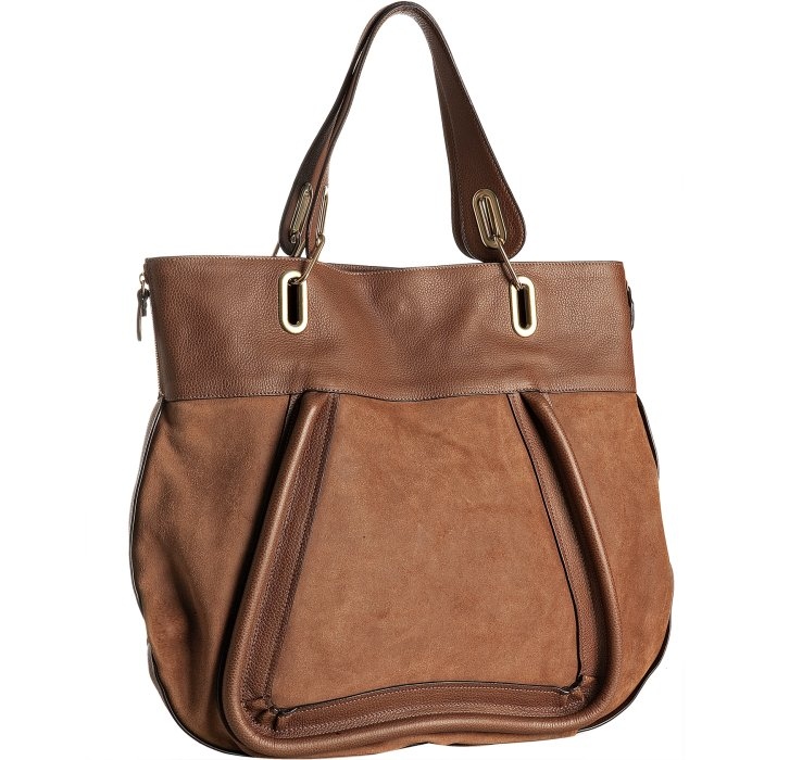 Chlo¨¦ Paraty Large Leather Tote in Brown (tan)   Lyst