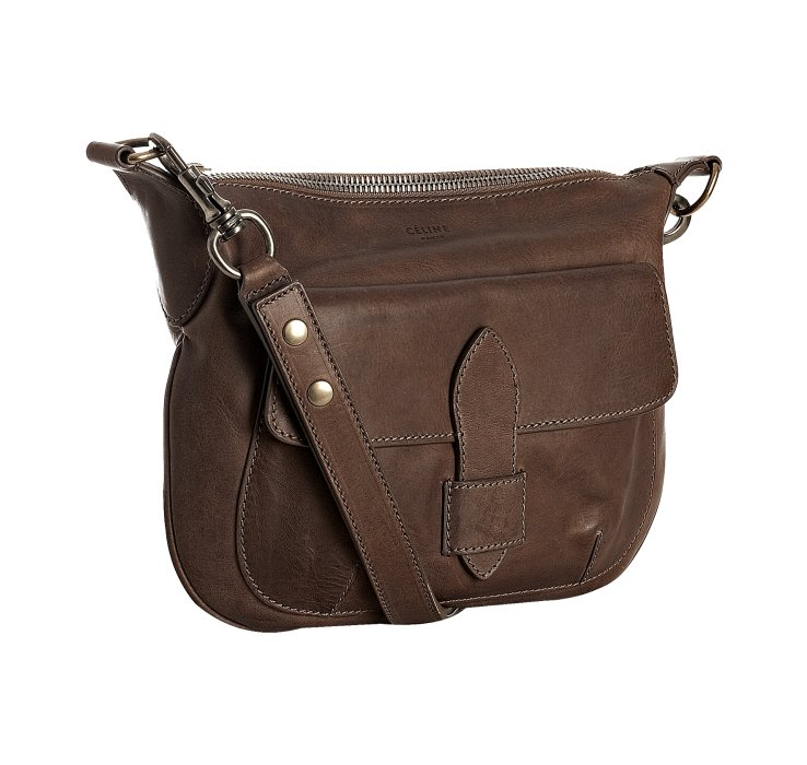 C¨¦line Chocolate Leather Small Shoulder Bag in Brown (chocolate ...