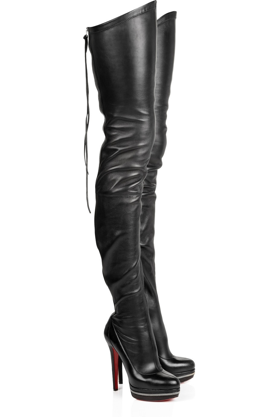 Thigh High Boots Leather