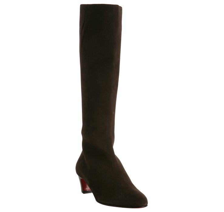 Dark Drown Suede Bourge Tall Boots