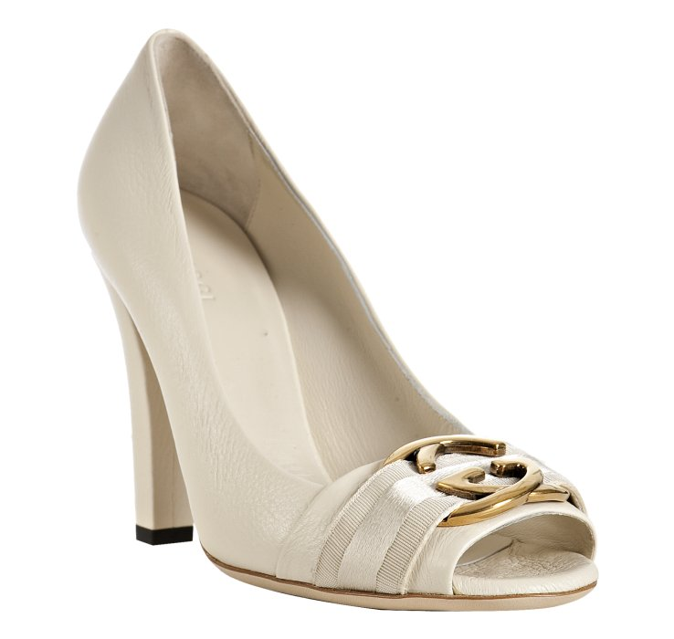 Cream Peep Toe Shoes Australia