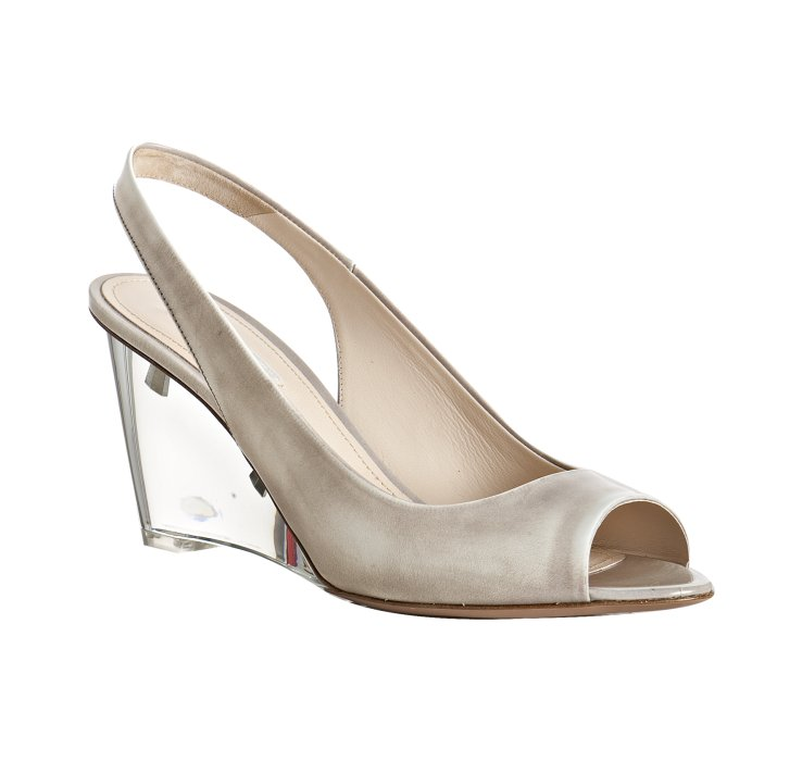 White Pointed Wedge Shoes
