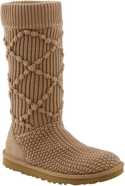 brown cardigan ugg boots