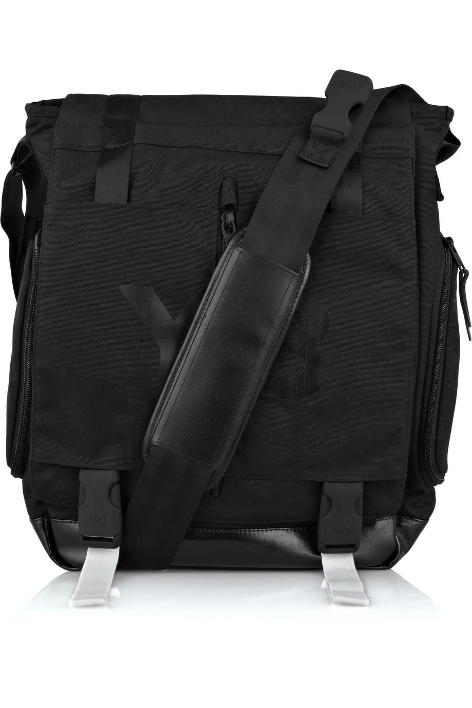 Lyst - Y-3 Canvas Messenger Bag in Black 977199bb88fd4
