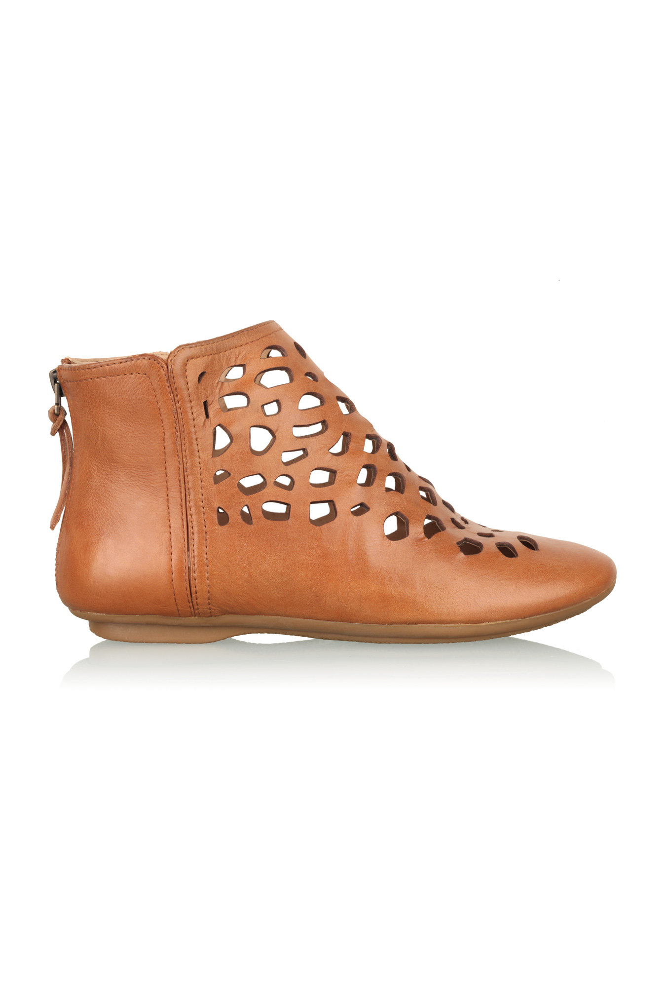 house of harlow 1960 tate cut out ankle boot in brown