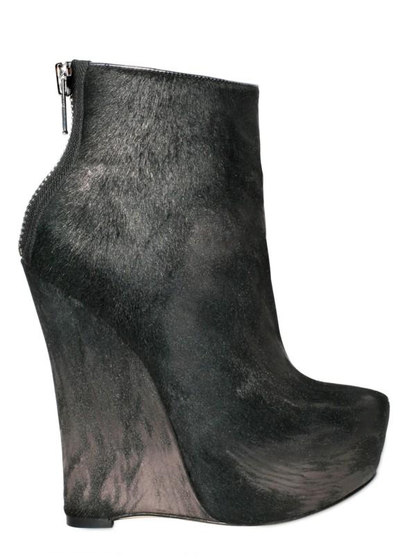 Alejandro Ingelmo 140mm Laminated Metal Pony Boot Wedges