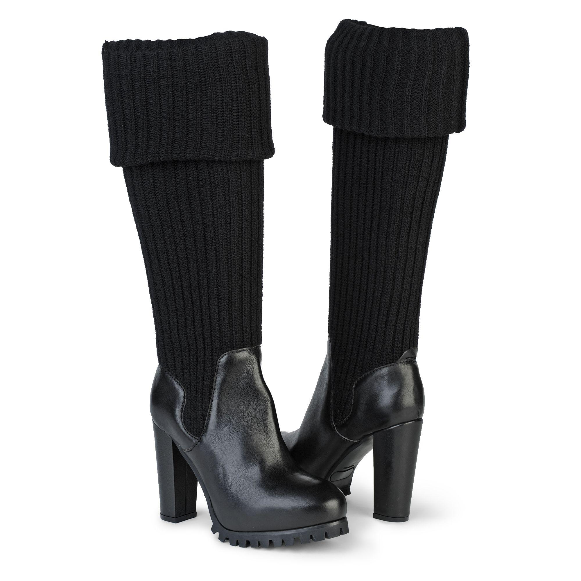 kurt geiger williamsburgh knee high boot in black lyst