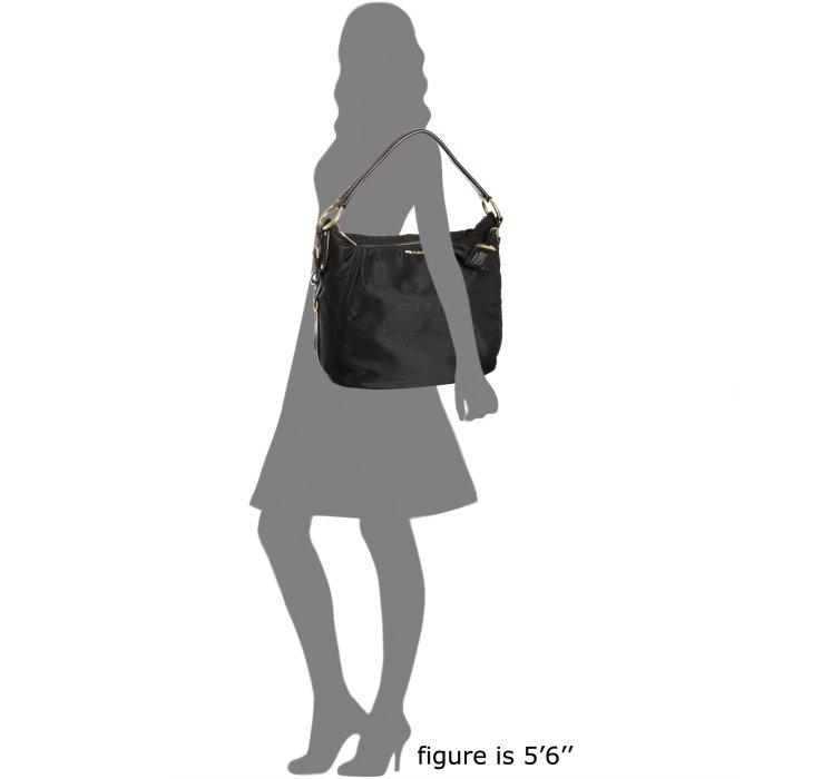 ... new zealand lyst prada black nylon logo jacquard hobo shoulder bag in  black 6a3bd 2bbc5 4beefafc20