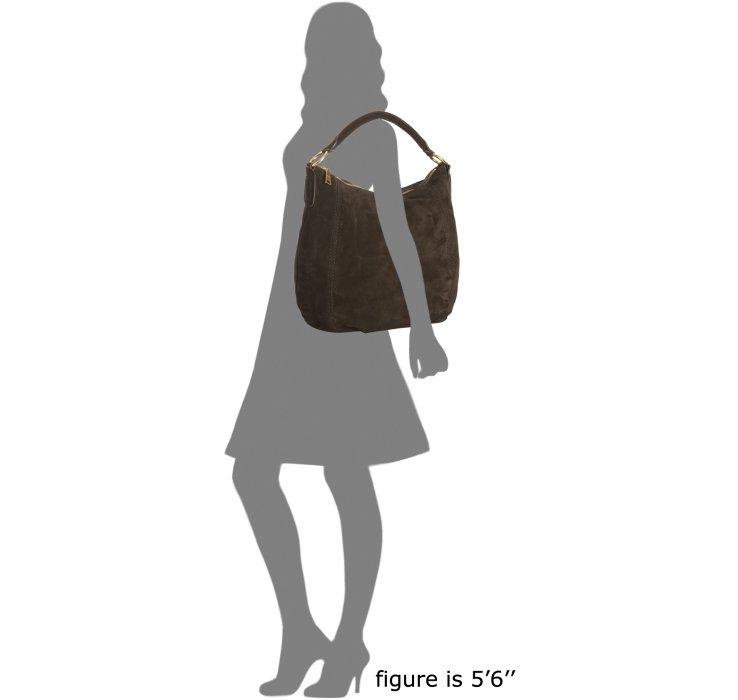 Prada Ebony Brown Suede Scamosciato Hobo Shoulder Bag in Black ...