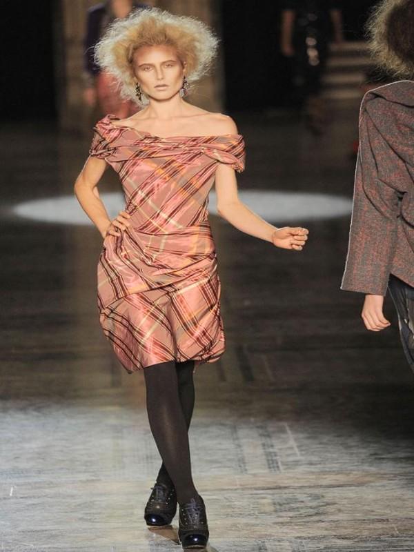 Vivienne westwood red label Tartan Taffeta Dress in Pink  Lyst